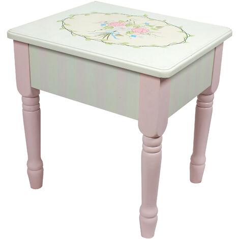 Fantasy Fields Bouquet Kids Vanity Stool with Storage (no Table) W-3843G/2