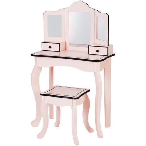 Fantasy Fields By Teamson Kids Little Lady Gisele Toy Vanity Set Pink / Black TD-13028P