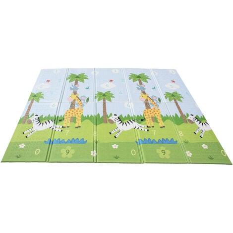 Fantasy Fields by Teamson, Large Waterproof Foam Crawling Baby Play Mat, Storage Bag, 2 sides, Sunny Safari, Magic Garden, Gym Floor Mat