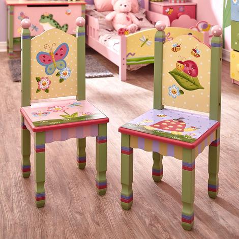 Fantasy Fields Children Magic Garden Kids Wooden 2 Chair Set (no table)W-7484A/2