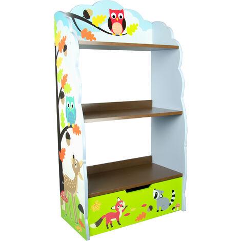 Fantasy Fields Childrens Blue Kids Wooden Bookcase Book Shelf Storage TD-11704A
