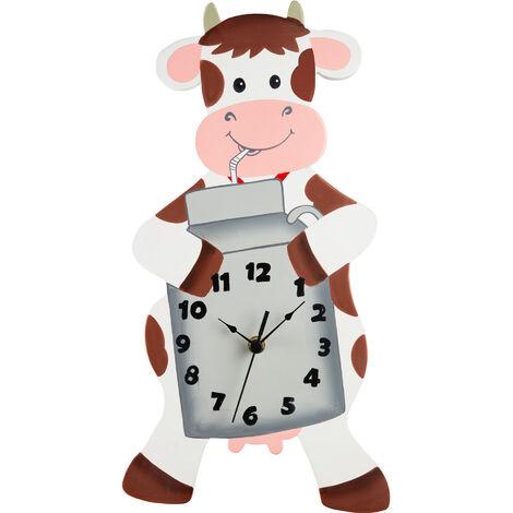 Fantasy Fields Childrens Happy Farm Wooden Cow Wall Clock Kids Bedroom TD-12657A