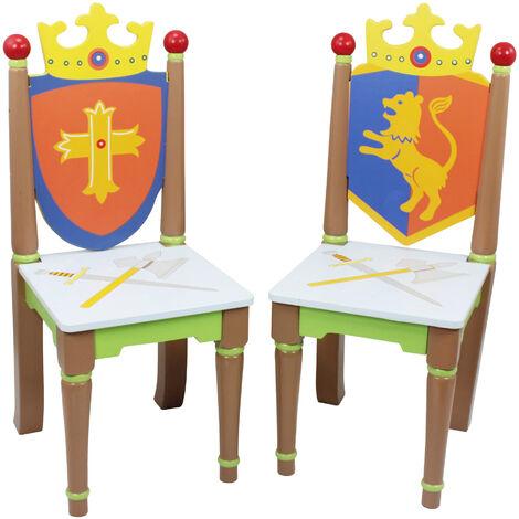 Fantasy Fields Childrens Knights & Dragons Kids Wooden Chair Set TD-11837A2