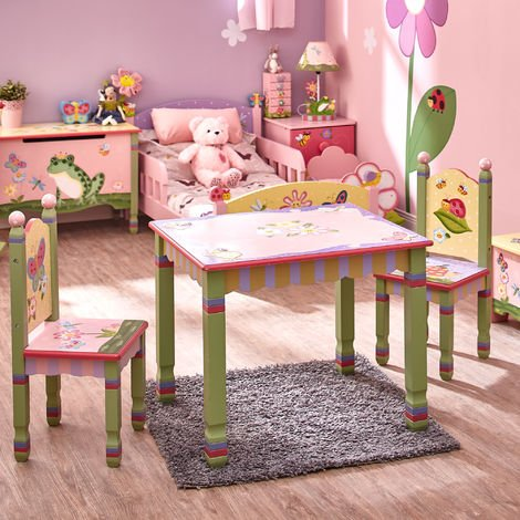 Fantasy Fields Childrens Magic Garden Kids Wooden Table and Chair Set W-7484A