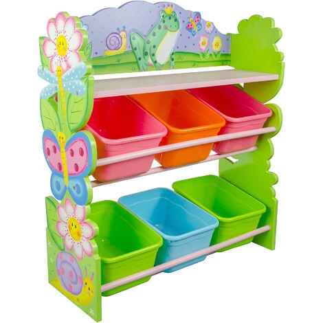 Fantasy Fields Childrens Pink Girls Wooden Toy Storage Box Organiser TD-12245A
