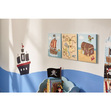 Fantasy Fields Childrens Pirate Canvas Wall Art Plaques Kids Bedroom TD-11633A