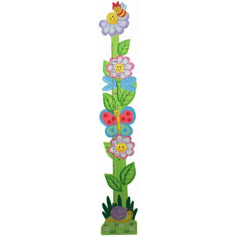 Fantasy Fields Kids Pink Wooden Growth Height Chart Girls Wall Hanging TD-0072A