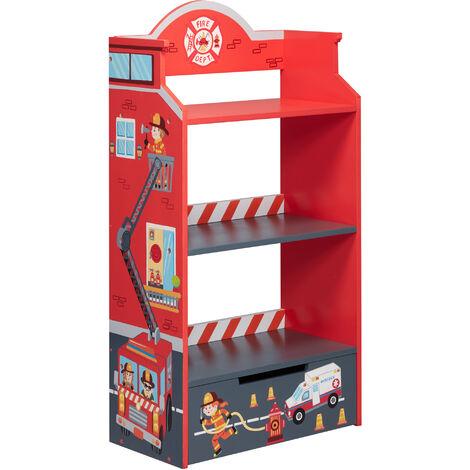 Fantasy Fields Lil Fire Fighters Children Kids Wooden Bookcase Storage TD-12506A