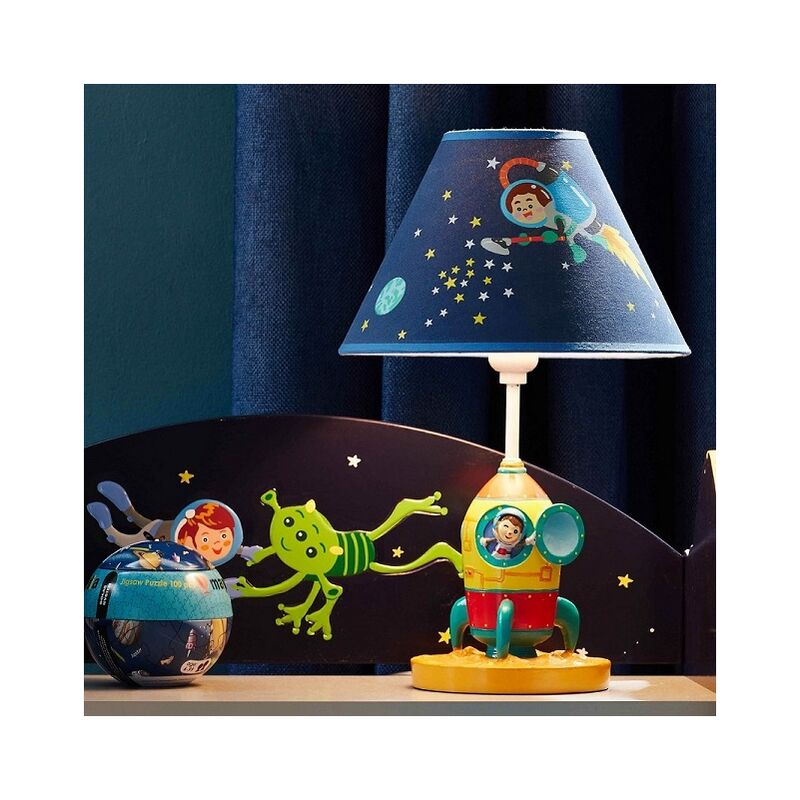 Image of Outer Space Kids Bedside LED Night Light Table Lamp TD-12335AT - Fantasy Fields