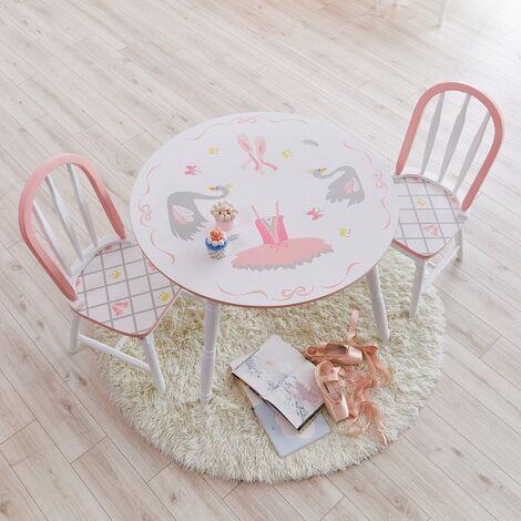 Fantasy Fields table enfant Swan Lake en bois pour fille bébé TD-12718A1