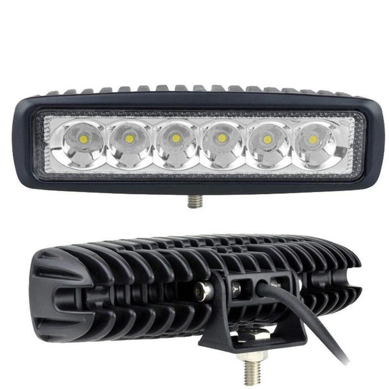 Faretto 18W 6 LED 12V Luce Fredda 6000K 60° IP67 per FUORISTRADA BARCHE 1770lm - TECH-IT
