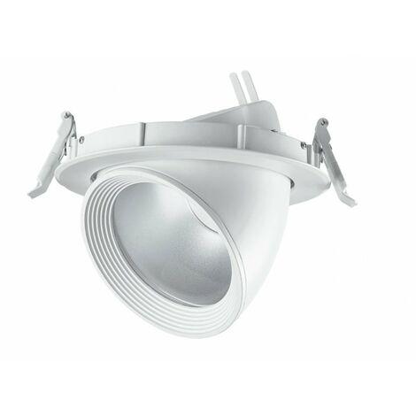 Faretto a incasso bianco orientabile dal design moderno con luci led 8 watt 3200 kelvin