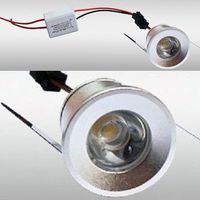 FARETTO A LED DA INCASSO FORO 25MM 1 LED 1W LUCE CALDO FREDDO PER INTERNO IP20