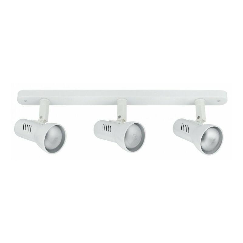 Applique a tre luci dalla forma essenziale bianca 42 watt E27