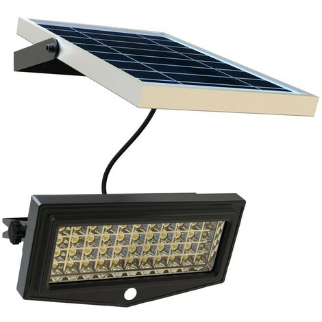 2x LED Solare Lampada da giardino Lampada esterno con rilevatore di movimento per giardino grondaia