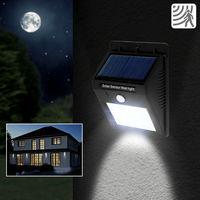 Faretto con 30 led e pannello solare ricaricabile sensore movimento da esterno