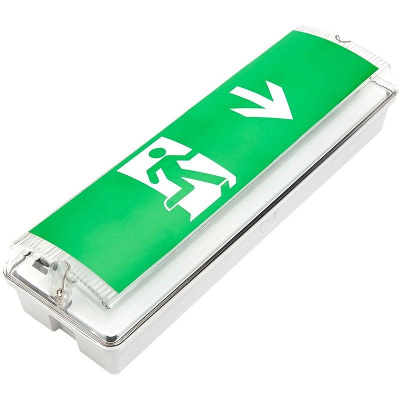 Biard Segnale con Luce di Emergenza LED Rettangolare 7,5W - Giù