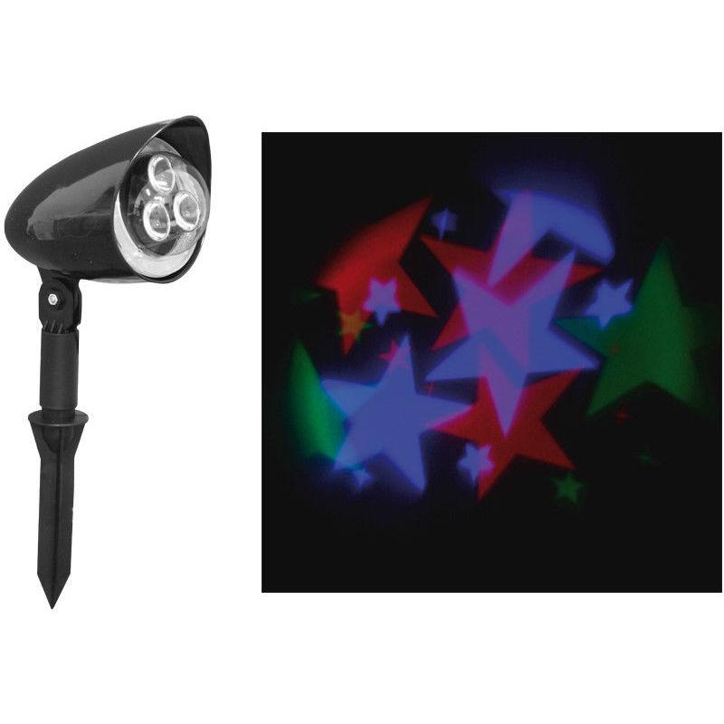 Faretto Faretto Proiettore Led Stelle Laser 3D Multicolore Distanza 10 Metri - LGV