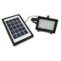 Faretto faro 30 led energia solare pannello batteria ricaricabile ip65 3w 5v