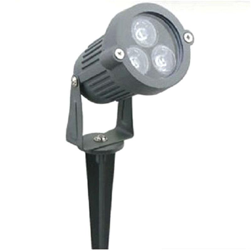 Faretto faro led da giardino 5 w watt supporto picchetto luce calda ip 65 - ROBERTAGOR