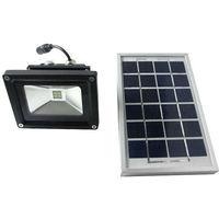 Faretto faro led energia solare pannello batteria ricaricabile ip65 2w 5v