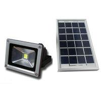 Faretto faro led energia solare pannello batteria ricaricabile ip65 5w 9v