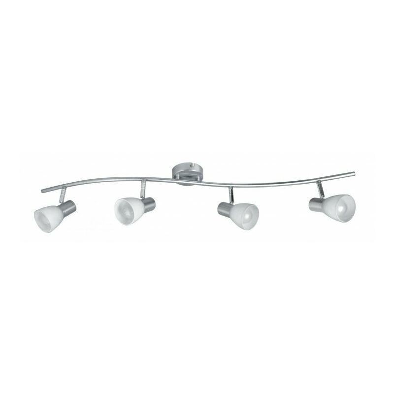 Lampadario sospeso elegante di colore nickel a quattro luci 40 watt E14