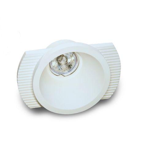 Faretto incasso 9010 belfiore neo luce bf-0022 led lampada soffitto gesso ottica fissa cartongesso gu10