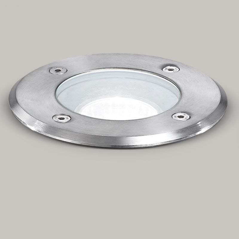 Faretto incasso acciaio ge-ges260 led ip67 spot terra tondo calpestabile esterno gx53 - Gea Led