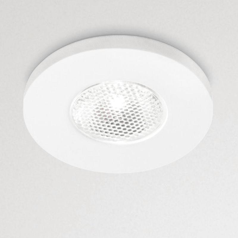 Faretto incasso alluminio gfa900 gfa901 led spot tondo bianco nichel moderno interno 3w 170lm 180lm 3000°k 4000°k ip20, tonalità luce 4000°k (luce