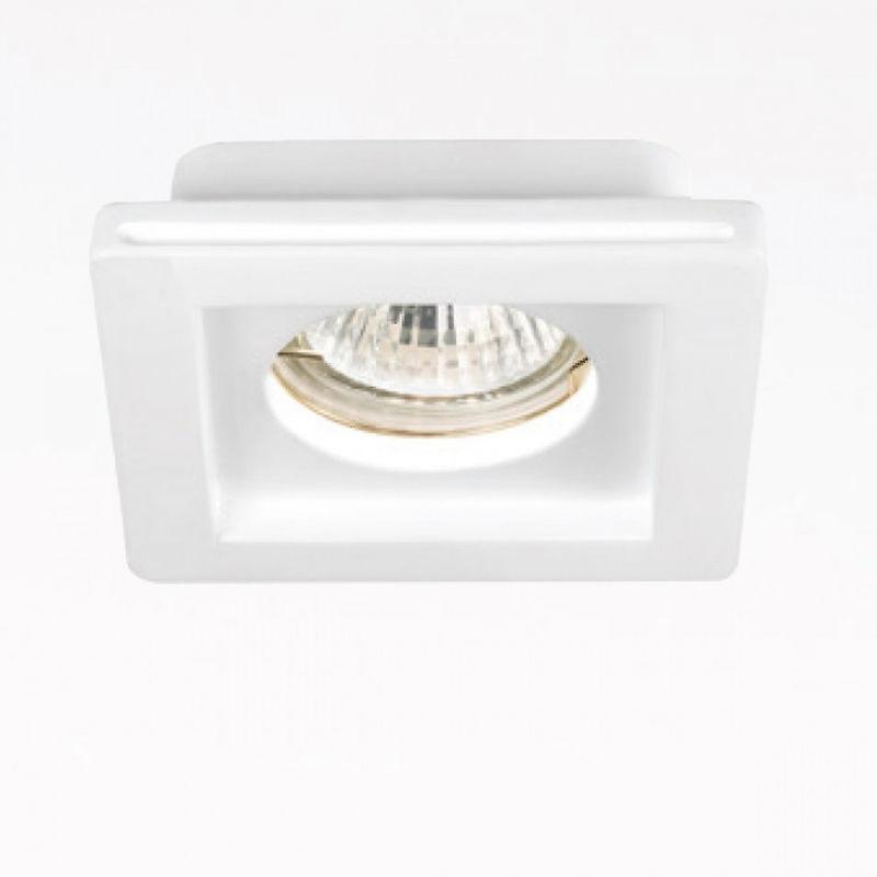 Faretto incasso gesso gfa591 led spot moderno cartongesso scomparsa ottica fissa interno gu10 - Gea Led