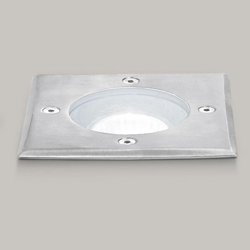 Faretto incasso acciaio ge-ges271 led ip67 spot terra quadrato calpestabile esterno gu10 - Gea Led