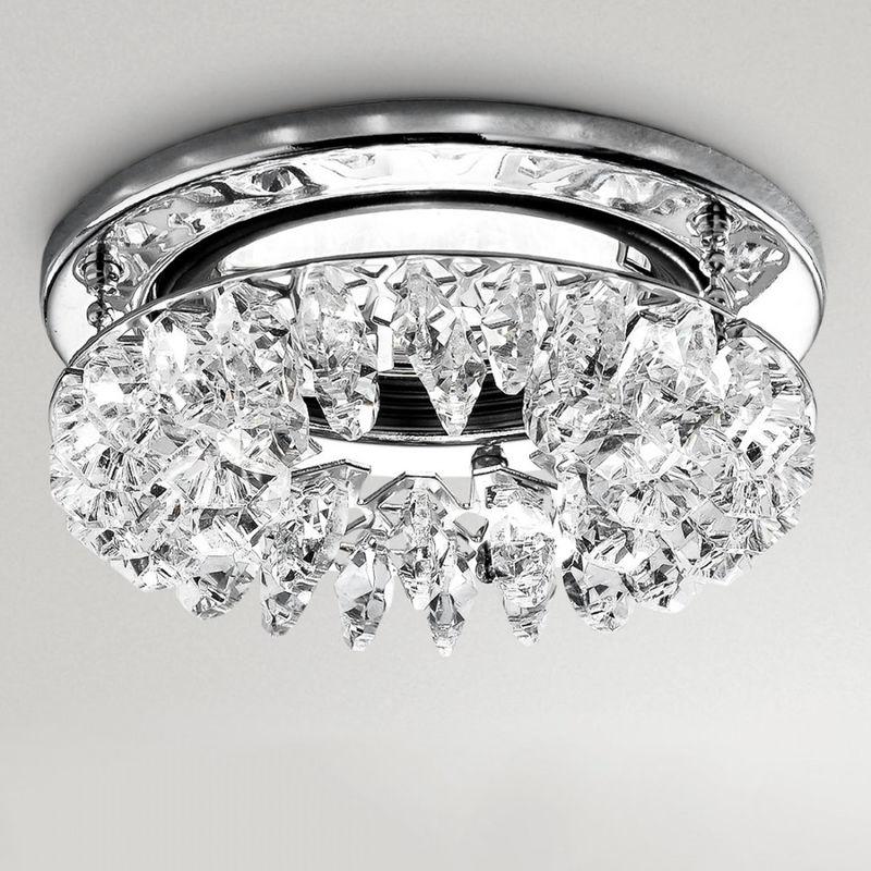 Faretto incasso gfa101 led spot moderno cristallo trasparente interno gu10 - Gea Led