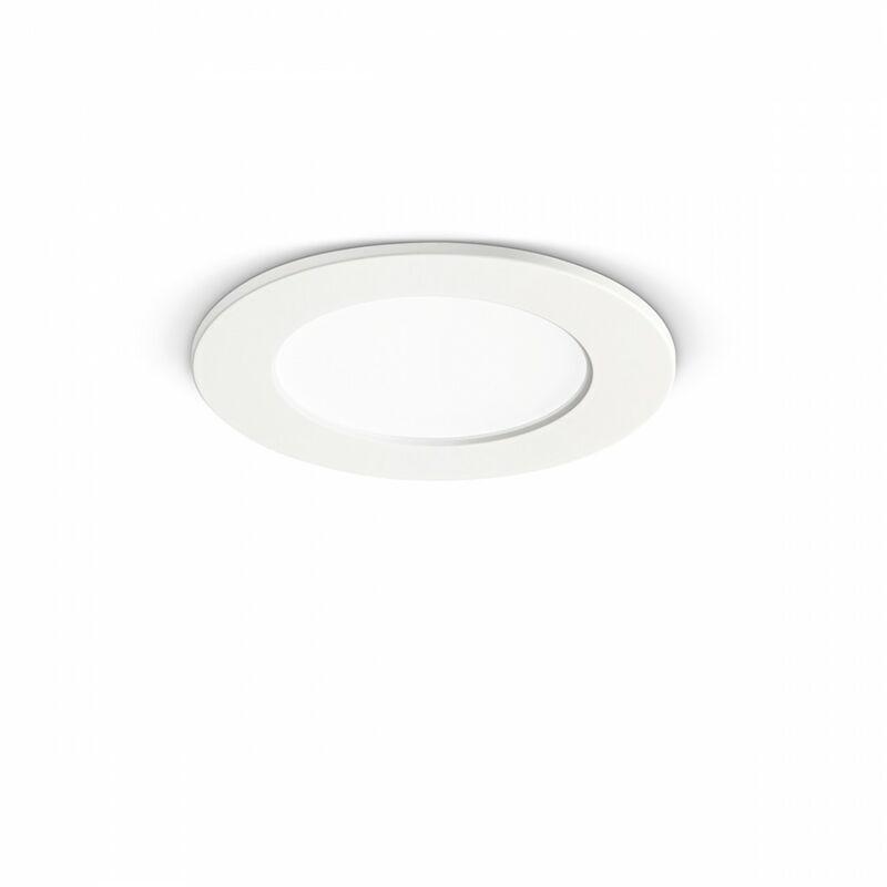 Faretto incasso gea led gfa750 6w led termoplastico lampada soffitto cartongesso interno, tonalità luce 4000°k (luce naturale)