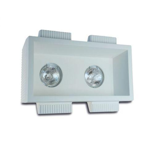 Faretto incasso gesso 9010 belfiore neo luce 0024 led lampada soffitto ottica fissa cartongesso muratura gu10