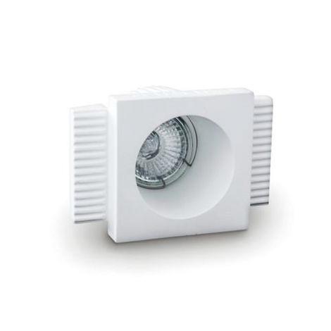 Faretto incasso gesso 9010 belfiore neo luce bf-0027 led lampada soffitto ottica fissa controsoffitto muratura gu10