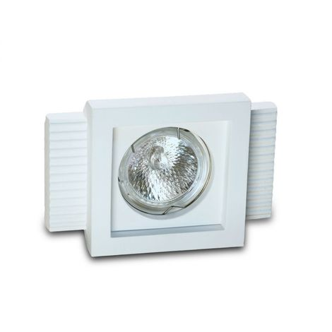 Faretto incasso gesso 9010 belfiore neo luce bf-0028 led lampada soffitto ottica fissa controsoffitto muratura gu10