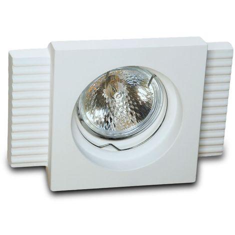 Faretto incasso gesso 9010 belfiore neo luce bf-0029 led lampada soffitto ottica fissa cartongesso muratura gu10