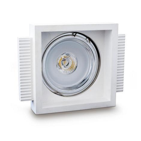 Faretto incasso gesso neo luce 9010 belfiore 0045 led lampada soffitto quadrato cartongesso muratura gu10
