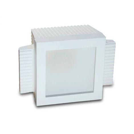 Faretto incasso gesso neo luce 9010 belfiore bf-0033 led lampada soffitto vetro ottica fissa scomparsa cartongesso muratura gu10