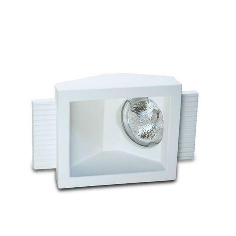 Faretto incasso gesso neo luce 9010 belfiore bf-0034 led lampada parete soffitto segnapasso scomparsa cartongesso muratura gu10