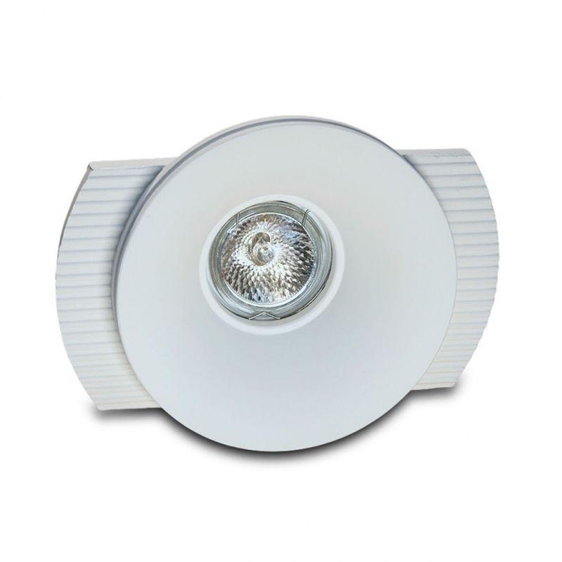 Faretto incasso gesso neo luce 9010 belfiore 0036 led lampada soffitto ottica fissa cartongesso gu10, confezione confezione 12 pezzi