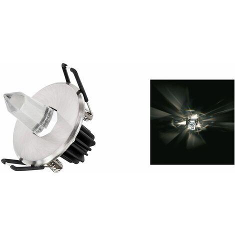 """main image of """"Faretto incasso led 3w luce fredda rotondo punta diamante cristallo stella IP65"""""""