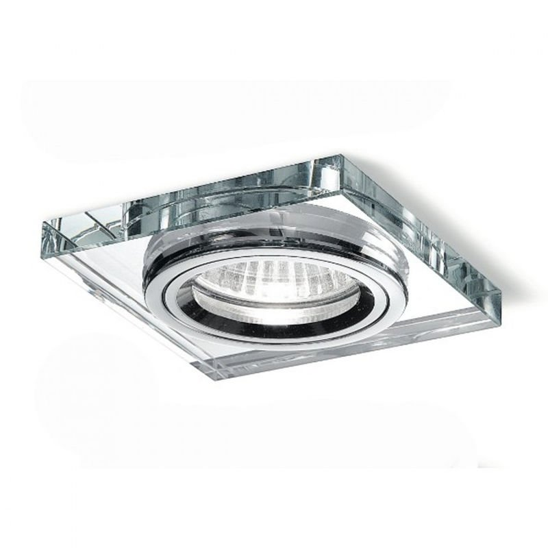 Faretto incasso vetro gea led gfa321 led spot quadrato moderno specchio interni gu10