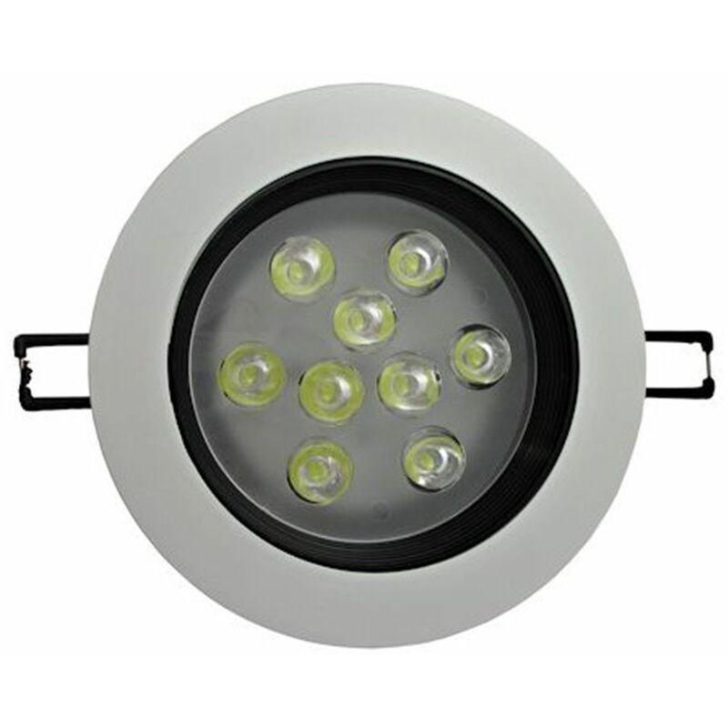 Faretto led 9W incasso rotondo bianco e nero a molla orientabile luce fredda - BS