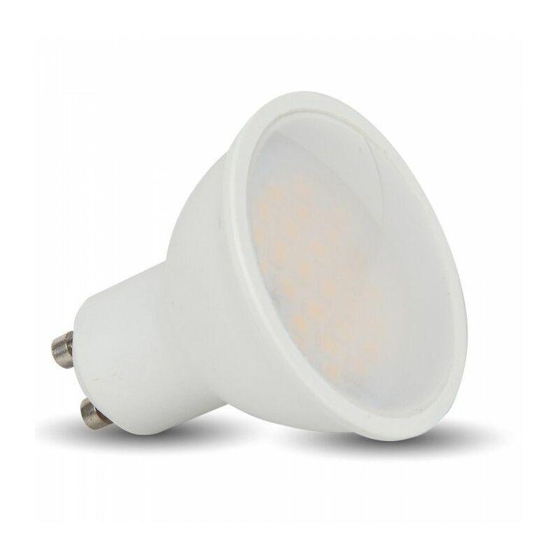 Set 10 Faretti LED Chip Samsung GU10 10W 110° Satinato 4000K - V-tac