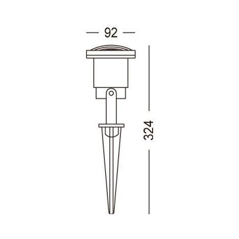 Faretto LED con picchetto Gotham 3W Bianco Caldo 3000K