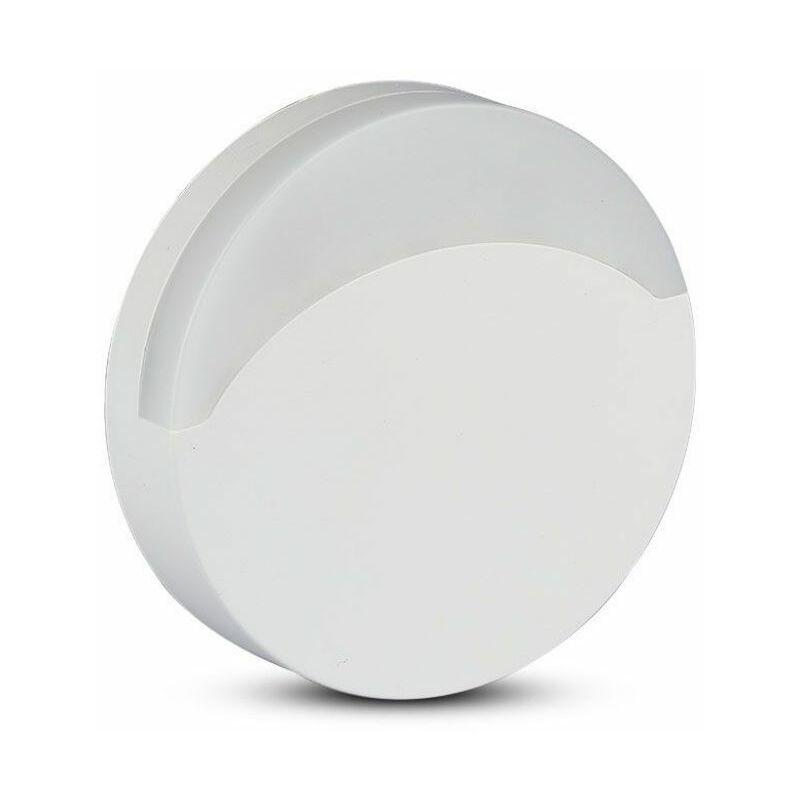 Faretto LED Chip Samsung Segnapasso Notturno Rotondo 0,45W con Sensore Crepuscolare Colore Bianco 65*53,4 mm 3000K IP20 - V-tac