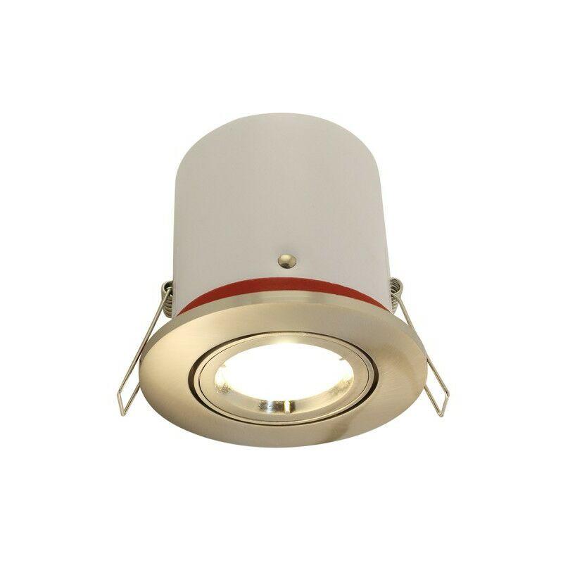 Arev - Faretto orientabile in acciaio satinato BBC Con faretto LED GU10 350 Lm