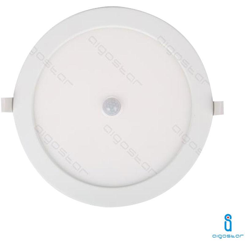 Aigostar - FARETTO PANNELLO LED DA INCASSO 24W CON SENSORE DI MOVIMENTO INTEGRATO